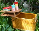 Picnic Basket Hawkeye Picnic Baket Vintage Woven Basket Woven basket REDUCED