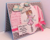 Handmade - Thinking of You Themed Greeting Card