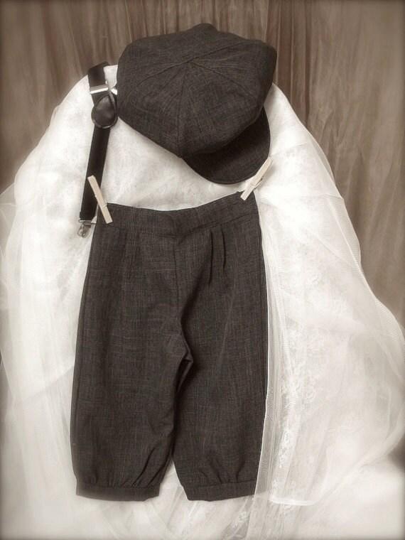 vintage charcoal grey BOYS KNICKER PANTS little boy knickers