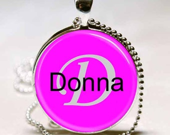 Donna Name Pendant Name Monogram Handcrafted  Necklace Pendant (NPD0982)