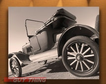 Automotive Print, Ford Model T Picture, Antique Car Art, Horseless Carriage, Classic Fords, Art Photography, Black and White, Sepia Photo