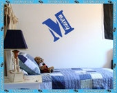 """23"""" Tall Stencil Style Monogram with Name Cutout - Vinyl Wall Decalz"""
