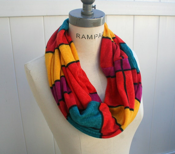 Color Block Colorblock Infinity Scarf, unique Retro Scarves, Gifts for Best friends, Best Selling shops  Items - By PIYOYO