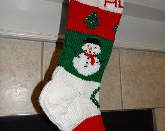 2017 Christmas -Personalized Hand Knitted Christmas Stocking