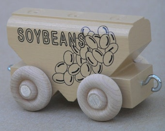 Wooden toy train Soybean Car