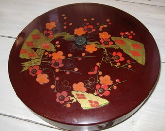 Chinese Plastic Snack Tray on a Pedestal with Lid
