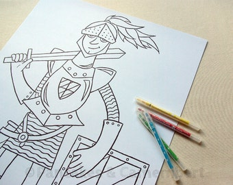 Coloring poster - Knight (A2)