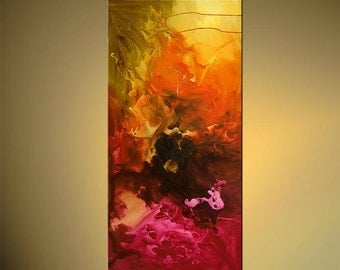 "Original Contemporary Abstract Acrylic Painting on Canvas by Osnat - MADE-TO-ORDER - 48""x24"""