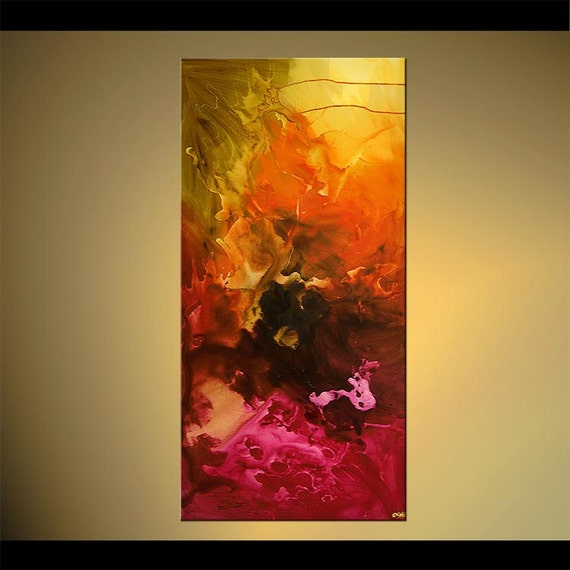 Original Contemporary Abstract Acrylic Painting On Canvas By