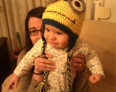 Despicable Me Minion Baby Beanie - MADE TO ORDER - 100% Handmade
