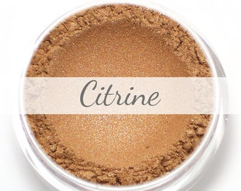 "Eyeshadow Sample - ""Citrine"" - shimmering rose gold (Vegan) Mineral Makeup Eye Color Pigment"