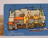 Tallinn the capital of Estonia. Art postcard with the picture. 1965