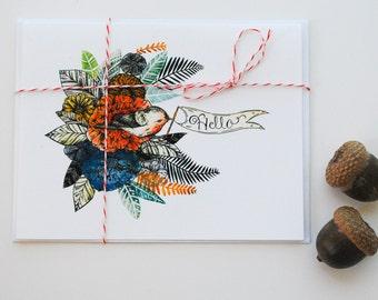 Little Hello Bird Card