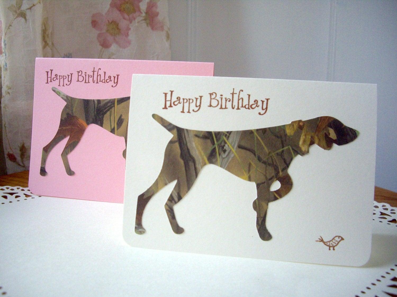 dog birthday card pointer birthday card pointing dog card – Weimaraner Birthday Cards