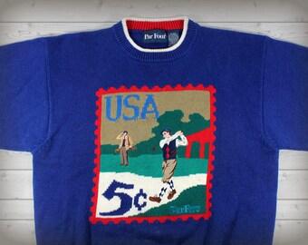 Vintage USA Golf Sweater