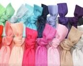 30 Fabric Hair Ties - Yoga Hair Elastics - Like Emi Jay Hair Tie Ponytail Wraps - Women's Knot Hair Ties - Best Hair Ties - Preppy Hair