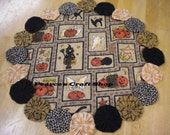 Halloween Placemat, Halloween Fabric Centerpiece