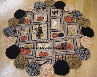 Halloween Doily, Primitive Linens, Country Farmhouse Decor