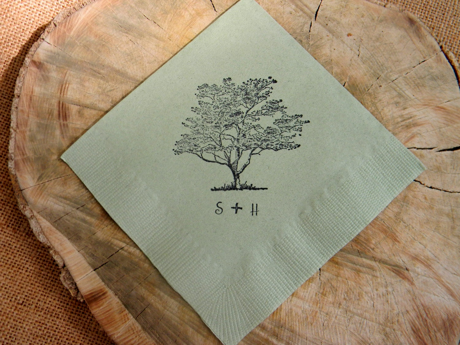 Wedding Wedding Cocktail Napkins rustic personalized sage green wedding cocktail napkins with