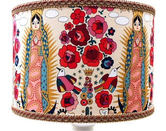 Mexican Folklore Style 'Virgencita' Limited Edition Lamp or Ceiling Shade