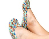 FREE SHiPPiNG Rainbow collorful Healthy slippers Dance classic yoga sexy hygienic light Naturel