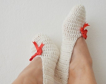 What color do you like ribbon , Ivory beige ecru Healthy Booties Home slippers
