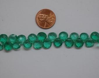 Hydro Quartz Green Hearts Faceted