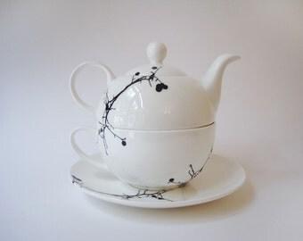 Twig Bone China Tea For One Set   Tea Set   Tea Pot   Tea Cup   Tea Gift