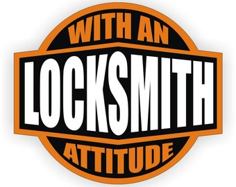 locksmith with an attitude hard hat sticker helmet decal