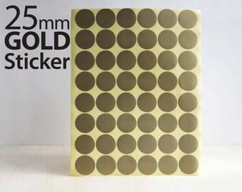 Set 624, Gold Circle sticker 25mm
