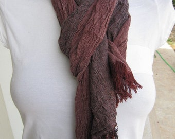 Washed bordeaux burgundy black stripe Scarf,2013 fashioN-woman-MAN SCARVES ,crinkle fabric,cotton,viscose-Turkey