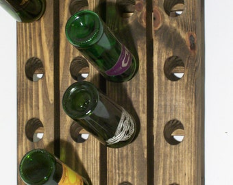 Wine Riddling Rack Wood Traditional Style Wall Hanging