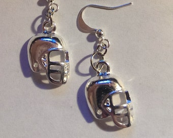 1 Pair Tibetan Style Earrings Helmet Football High School Antique Silver Finish -  Jewelry Super bowl