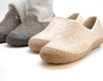 Rubber toe soles for felted clogs and booties - for shoemaking - rubber outsoles - shoe making supplies - beautiful sole