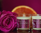 Wedding Favors - Rose Geranium & Pink grapefruit Candle, 5cl - Soya Wax and Pure Essential Oils