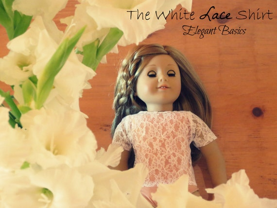 SALE The White/Pink Lace Shirt - American Girl Clothing