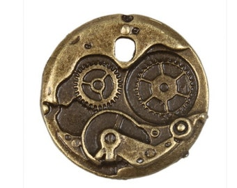 Steampunk Bronze Clock Finding Package of 5