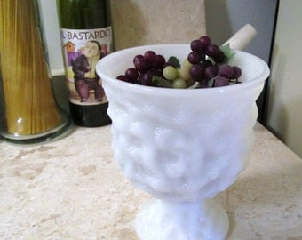 Vintage E.O. Brody Co. Milk Glass Compote Marked M3000