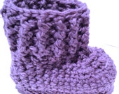 Oh Baby Crochet Baby Bootie Pattern by Double Diamond Knits       permission to sell finished booties