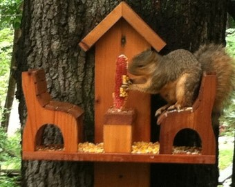 Western Red Cedar Squirrel Feeder