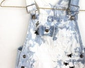 Spider acid wash denim overalls, 18 months, napkin