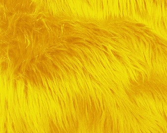 Half Yard Yellow Shag