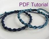PDF Tutorial Half Square Knot Spiral Macrame Bracelet Pattern, Instant Download Macrame Bracelet Tutorial, DIY Friendship Slider Bracelet