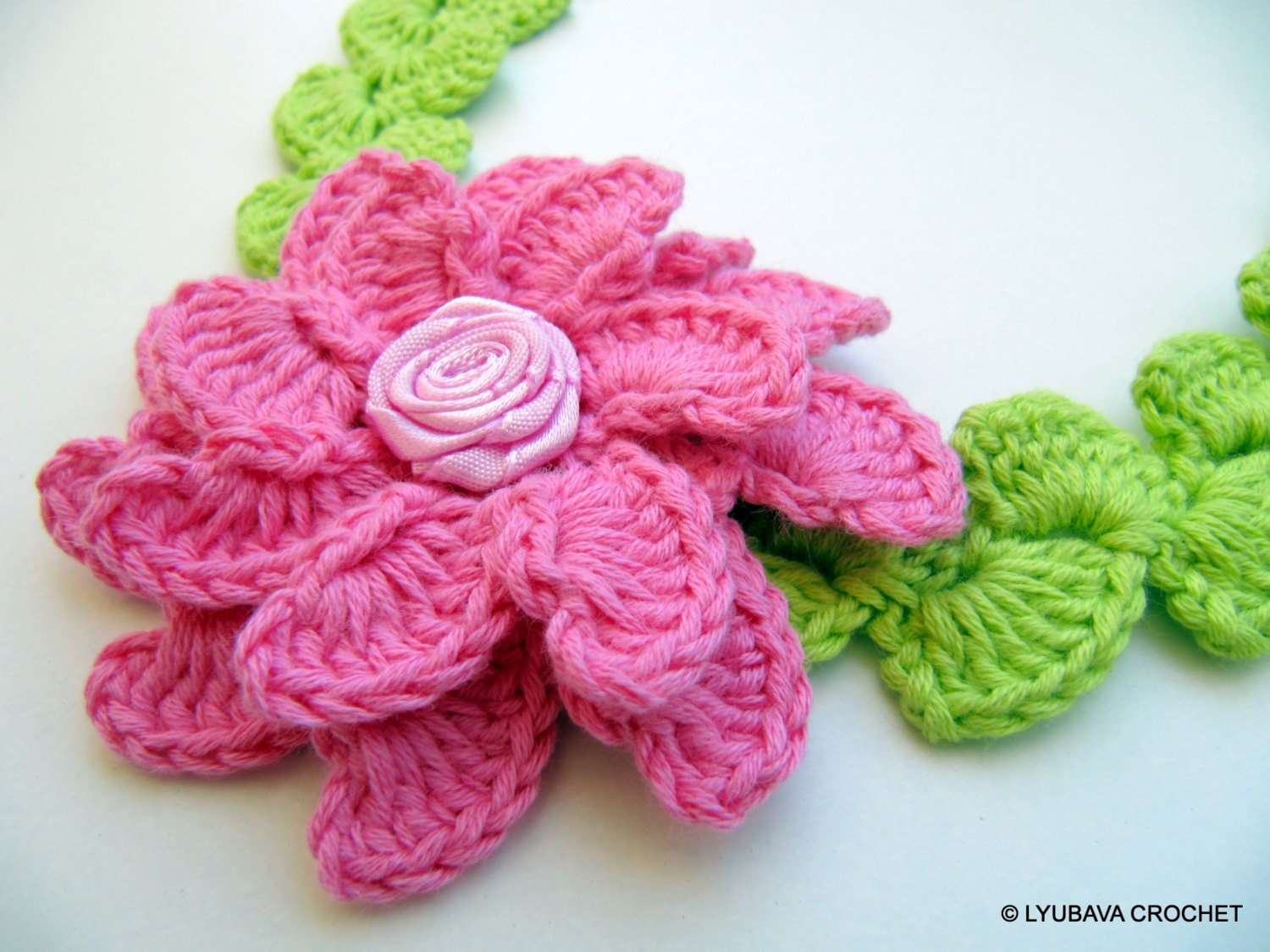 CROCHET PATTERN Flower Headband Baby Girl by LyubavaCrochet
