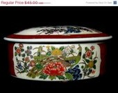 Huge Clearance Sale Satsuma Japan Covered / Trinket Box with  Peacock Pattern