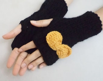 Hand knitting gloves, Knit Gloves, Fingerless Glove, Arm warmer, hand warmers, Gift İdeas, Accessories, Black Gloves, women fashion, mittens