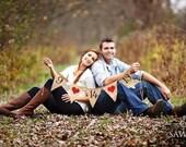 Save the Date - Wedding sign - Burlap Banner - engagement photos - Photography prop
