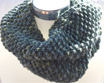 green knit cowl neckwarmer  accessories  loop  cowl  accessories knit scarves unisex adults