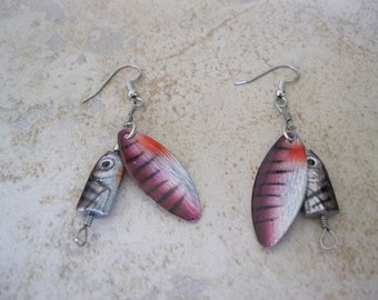 Fishing  Lure Earrings, Fishing Earrings
