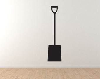 Garden Instruments #5 - Shovel Spade Digging Tool Land Wall Vinyl Decal Home Decor
